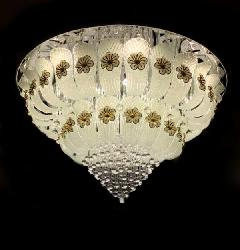 800MM Center Rotatable Big Size Glass Leaf Multi Color Musical Chandelier