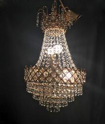 300 MM Small Size Crystal Decorative Golden Chandelier