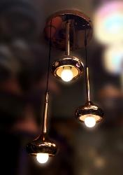 Copper Touch Ceiling Fixture Height Suspension Pendant Light For Cafe