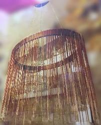 Customized Antique Finish Bicycle Chain Hanging Chandelier