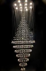 Customized Crystal Pendant Hanging Ceiling Fixture Chandelier