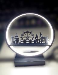 London City Display LED Light Table Lamp