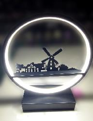 Beautiful Wind mill and Lovely Nature Design LED Light Table Lamp