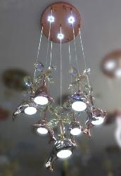 Dolphin Pattern Copper Touch LED Pendant Light