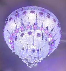 600 MM Glass Design Musical and Multi Colour Ceiling Chandelier