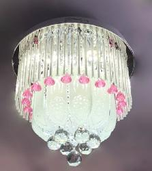 400 MM Musical and Multi Colour Light Surface Mounted Chandelier
