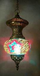Star Design Tiffany Glass Pendant Light
