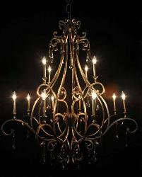 Awesome Candle Holder Metal arm Italian Design chandelier