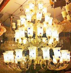 Double Heighted Maharaja Style and Antique Chandelier for Hotels and Homes.