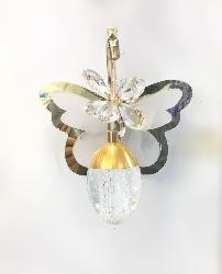 Butterfly Design and Glass Ball Pendant Wall Light Lamp