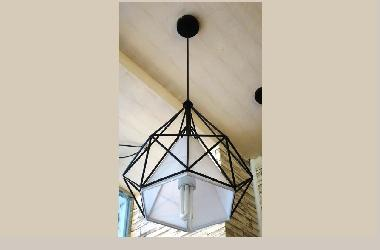 Triangle Outdoor Pendent Light