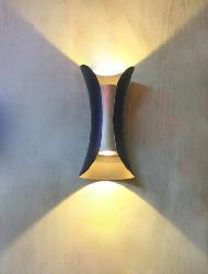 Unique Design Black and Gold Plated Colour  Outdoor Up and Down LED Light Wall Lamp