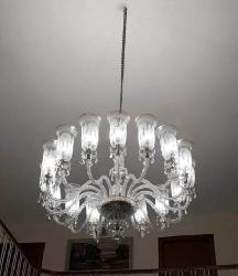 Transparent White Glass Lamp Shade Modern Contemporary Design Chandelier