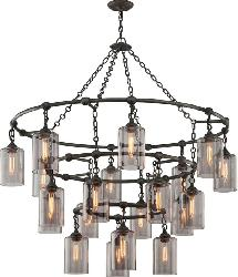 Modern Contemporary Design Clear Vintage Glass Lamp Pendant Chandelier
