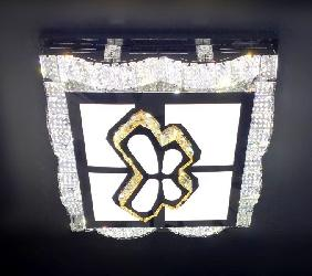 Square Shaped Art Butterfly Design and Crystal Decor Surface Mounted Chandelier