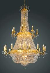 Customized Golden Touch Maharaja Style Crystal Decorative Italian Pattern Candle Holder Chandelier
