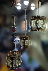 Crystal and Glass Designed Hanging Light Chandelier