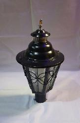 Black Finish Garden Gate Light