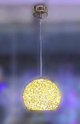 The Golden Coated Ball Pendant LED Light For Living room