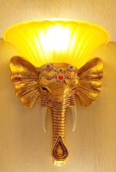 Elephant Head Sculptural Design Wall Fixture Lamp For Hotel and Farmhouse