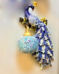 Beautiful Peacock Design Wall Fixture Lamp