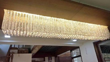 Customized Rectangular Shape Luxury Crystal Pendant Chandelier For Dining room and Banquet Hall