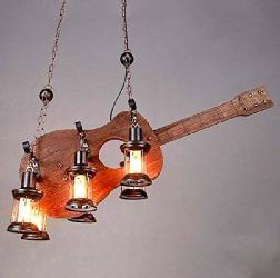 Fashionable Wood Guitar Pendant Light For Cafe and Restaurant