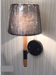 Stylish Wooden Wall Lamp with Shining fabric