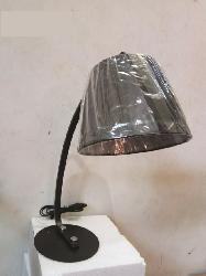 Study Table Lamp with Black Linen Shade