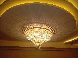 New Flower Design Customized Crystal Decor and Golden Coated Chandelier