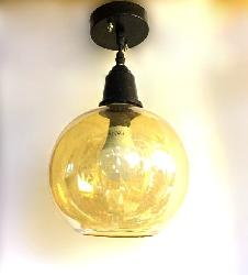 Glass Ball Pendant Light For Cafe and Kitchen