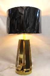 Modern Design Golden Base and Black and Golden Round Shade Table Lamp