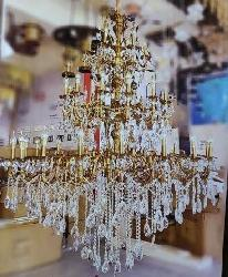 Big Size Italian Design Candle Holder Chandelier For Double Heighted Ceiling