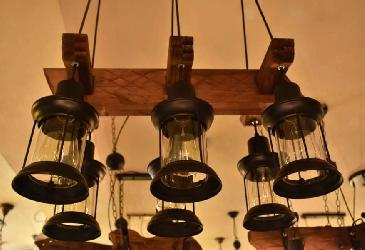 The Antique Style Rustic Wooden Design Pendant Light Chandelier