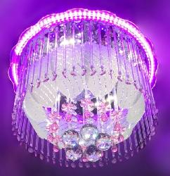 New Acrylic Layer Design And Glass Decor Musical Chandelier Bedroom Lighting