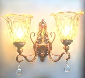 Modern Vintage Glass With Copper Finish Wall Sconces Lamp