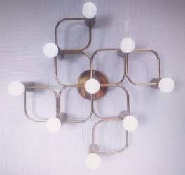 Modern Square Shape Design Flush Mounted Ceiling Chandelier