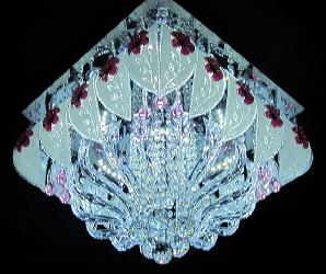 Enticing Multicolor Musical Crystal Chandeier