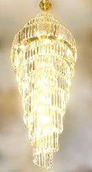 Luxury Crystal Track Decor Double Height Ceiling Chandelier