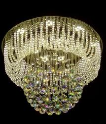 Customize New Crystal Pendant Design Ceiling Mounted Chandelier