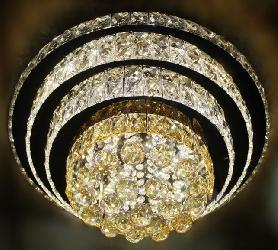 New Round Ring Shape Design Crystal Ball Pendant LED Light Ceiling Mounted Chandelier