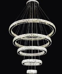 5 Different Size Round Shape Crystal Decorative Ring Pendant Chandelier