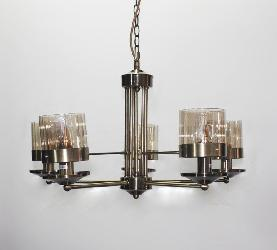 Antique Golden Finish And Vintage Glass Lamp Chandelier For Dining Room
