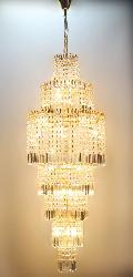 New Crystal Track Pendant Grand Size Golden Finish Chandelier