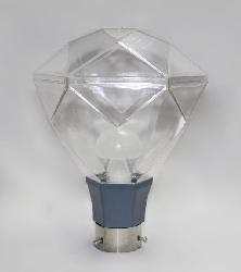 New Diamond Shape Design And Transparent Shade Gate Light Lamp