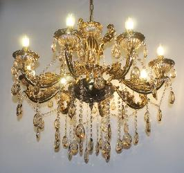 New Golden Finish And Crystal Pendant Home Decor Italian Design Chandelier