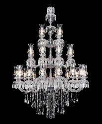 Big Size Antique Italian Pattern Glass Lamp Chandelier