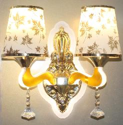 Latest Floral Design Double Glass Shade Wall Decor Light Lamp With LED Light