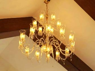 18 Glass Lamp Big Size Customize Antique Italian Pattern Design Chandelier