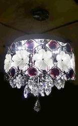 Round Shape With Crystal LED Hanging Chandelier